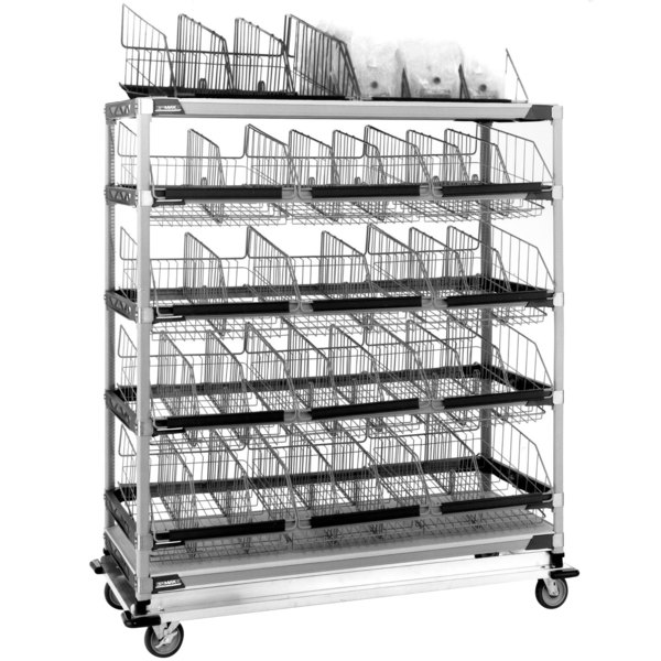 "Metro MXIV6 MetroMax i I.V. 12-Basket Solution Cart - 24"" x 60"" x 60"" Main Image 1"