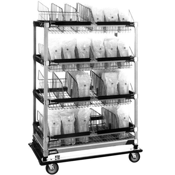 "Metro MXIV4 MetroMax i I.V. 8-Basket Solution Cart - 24"" x 42"" x 60"" Main Image 1"