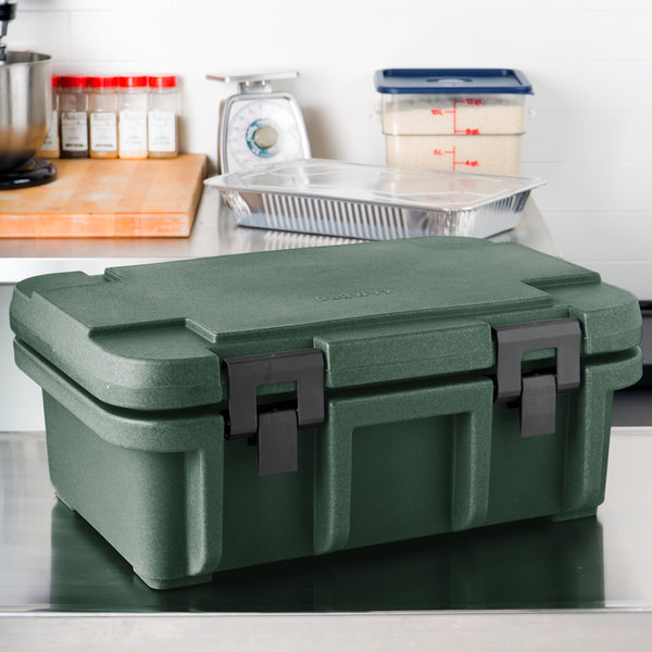 "Cambro UPC160192 Granite Green Camcarrier Ultra Pan Carrier - Top Load for 12"" x 20"" Food Pan"
