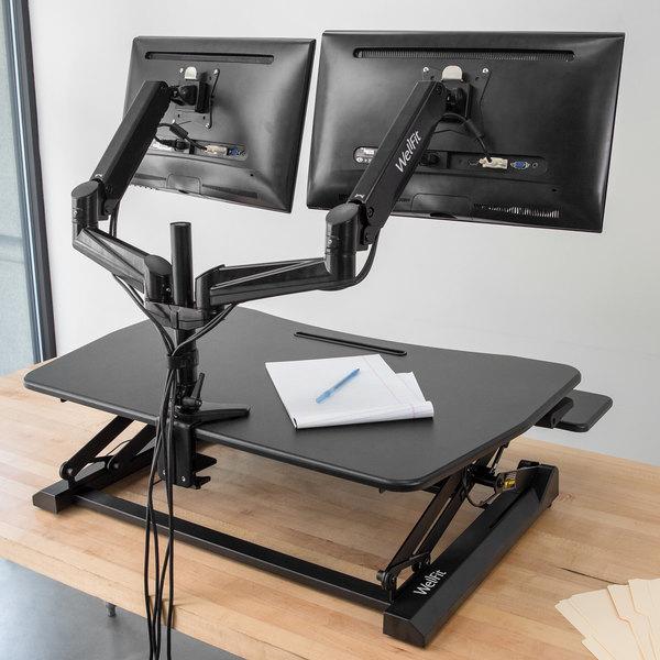 Pleasant 360 Office Furniture Wellfit Black Dual Monitor Desk Mount Arm Download Free Architecture Designs Momecebritishbridgeorg