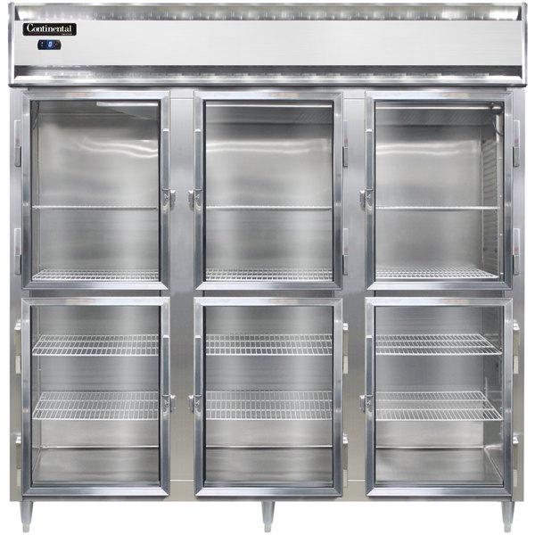 "Continental DL3F-GD-HD 78"" Half Glass Door Reach-In Freezer Main Image 1"