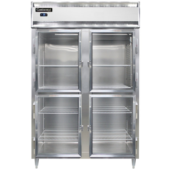 "Continental DL2F-GD-HD 52"" Half Glass Door Reach-In Freezer Main Image 1"