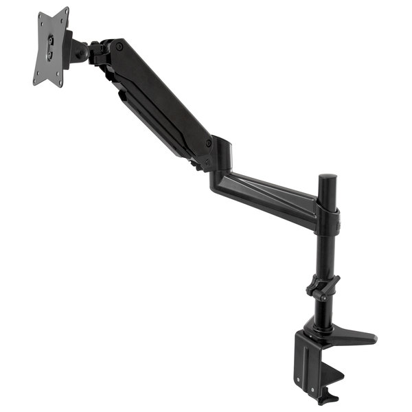 360 Office Furniture WellFit Black Single Monitor Desk-Mount Arm