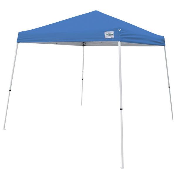 Caravan Canopy 21007800020 V-Series 2 10u0027 x 10u0027 Blue Slant Leg Instant Canopy  sc 1 st  WebstaurantStore & Canopy 21007800020 V-Series 2 10u0027 x 10u0027 Blue Slant Leg Instant Canopy