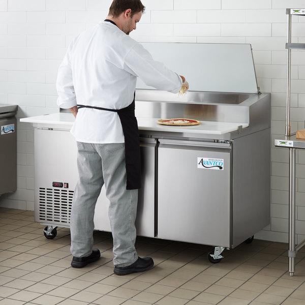 "Avantco PICL2-60-HC 60"" 2 Door Refrigerated Pizza Prep Table"