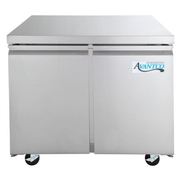 "Avantco SS-UC-36R-HC 35 1/4"" Undercounter Refrigerator Main Image 1"