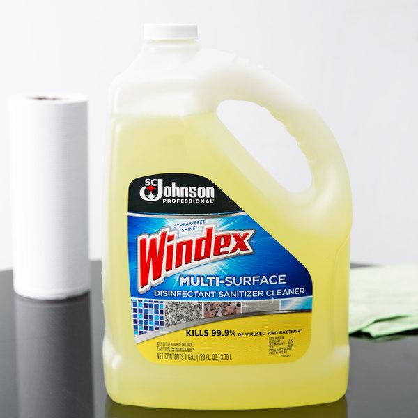 SC Johnson Windex® 682265 1 Gallon Multi-Surface Disinfectant / Sanitizer - 4/Case Main Image 3