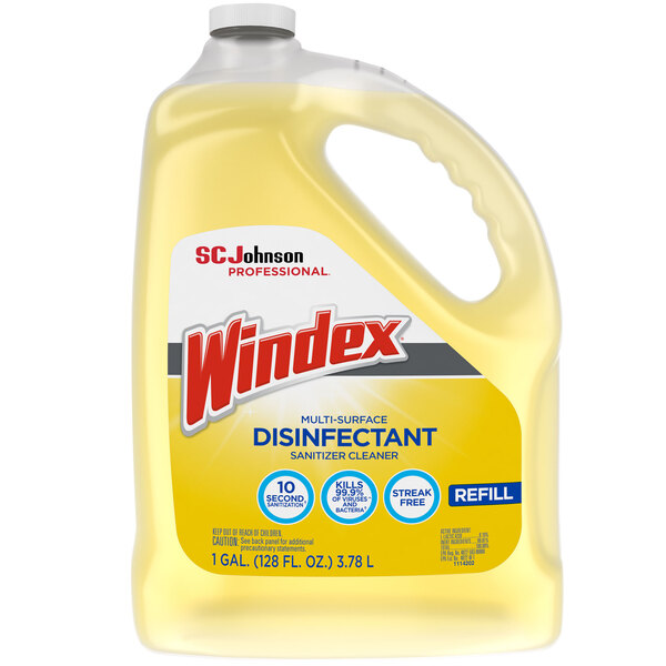 SC Johnson Windex® 682265 1 Gallon Multi-Surface Disinfectant / Sanitizer Main Image 1