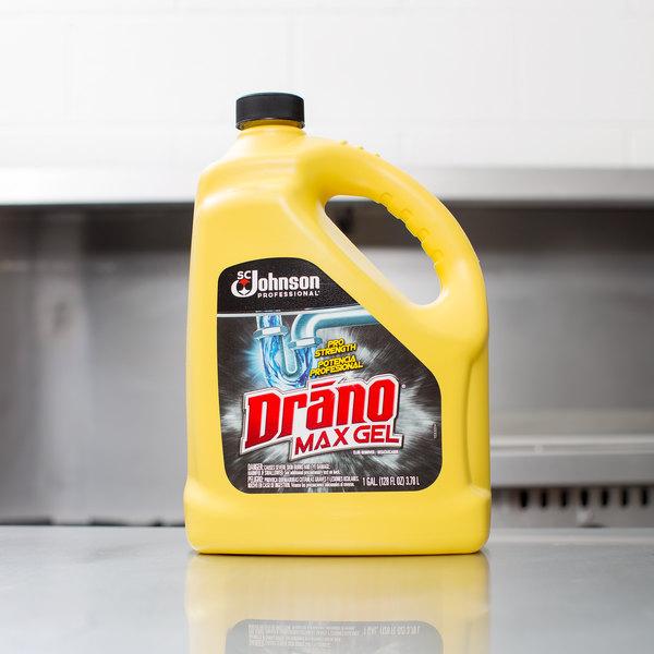 SC Johnson Drano® 696642 1 Gallon Max Gel Clog Remover - 4/Case Main Image 6