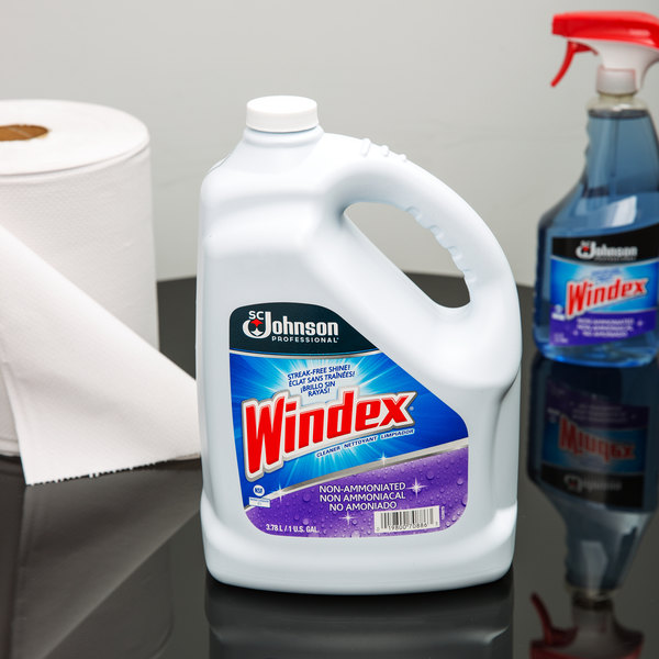 SC Johnson Windex® 697262 1 Gallon Non-Ammoniated Glass Cleaner - 4/Case Main Image 3
