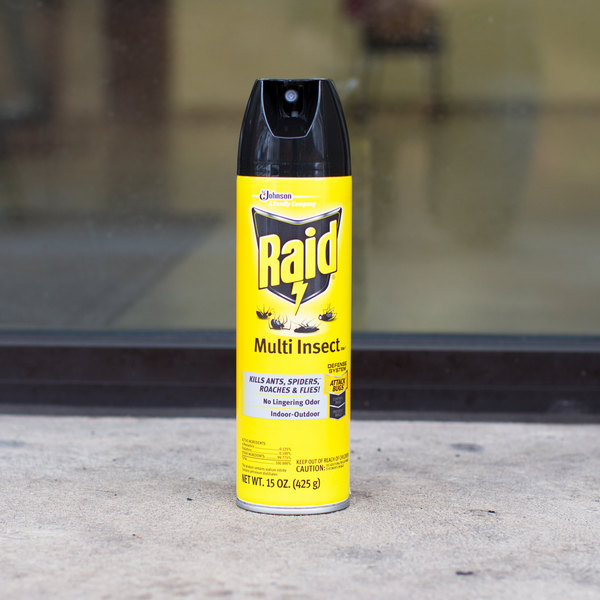 SC Johnson Raid® 300819 15 oz. Aerosol Multi Insect Bug Killer Spray - 12/Case Main Image 3