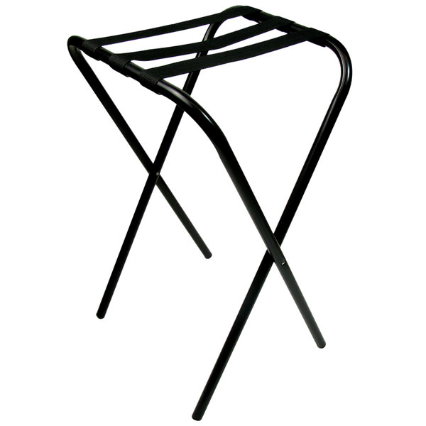 Lancaster Table & Seating 31 inch Folding Tray Stand Black Metal