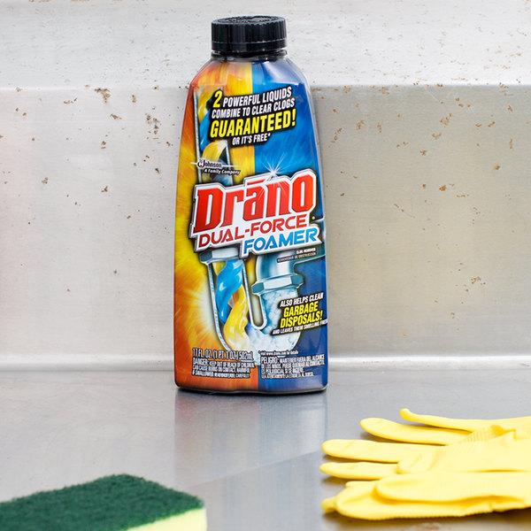 SC Johnson Drano® 14768 17 oz. Dual Force Foamer Drain Cleaner Main Image 4