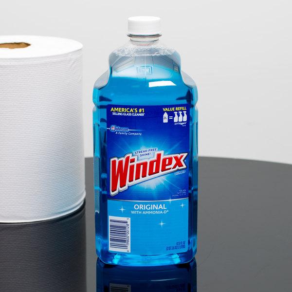 Sc Johnson Windex 62128 2 Liter Original Window Cleaner 6case