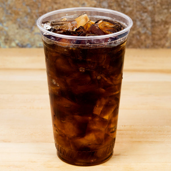 Fabri-Kal GC24 Greenware 24 oz. Compostable Clear Plastic Cold Cup - 600/Case