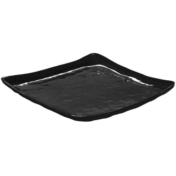 "GET ML-147-BK New Yorker 13 3/4"" Square Plate - Black"