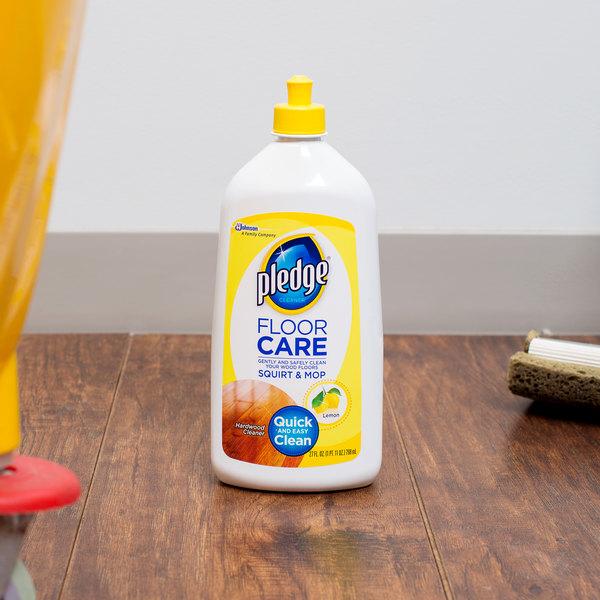 SC Johnson Pledge® 640059 27 oz. Squirt and Mop Hardwood Floor Care Cleaner - 6/Case Main Image 4