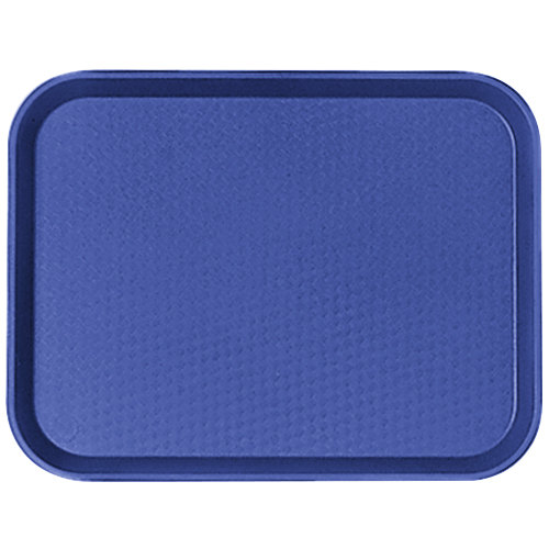 "Cambro 1418FF186 14"" x 18"" Navy Blue Customizable Fast Food Tray - 12/Case"