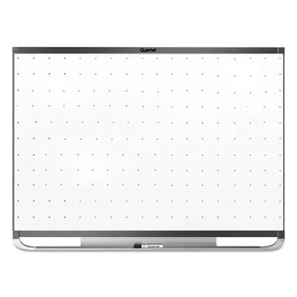 "Quartet TEM547G Prestige 2 48"" x 72"" Magnetic Total Erase Whiteboard with Graphite Aluminum Frame"
