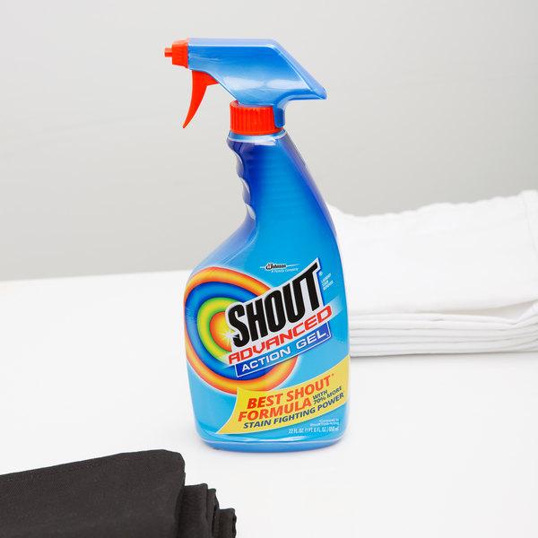 SC Johnson Shout® 652520 22 oz. Advanced Action Gel® Spot Treatment Spray - 12/Case
