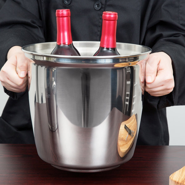 Vollrath 47625 Stainless Steel Double Bottle Wine Bucket with Handles Main Image 5