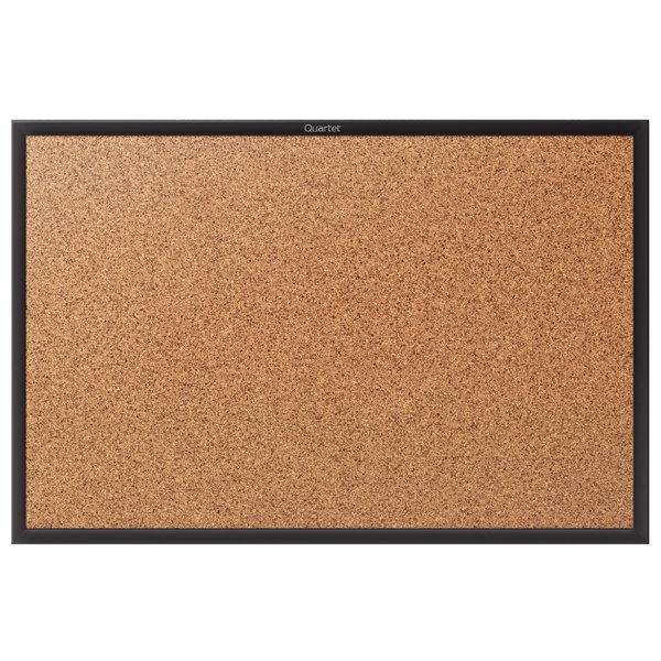 Quartet 2304b Classic 36 X 48 Cork Board With Black Aluminum Frame