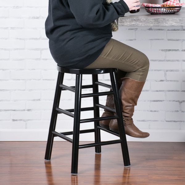 Amazing Lancaster Table Seating Spartan Series 24 Black Metal Counter Height Stool Gamerscity Chair Design For Home Gamerscityorg