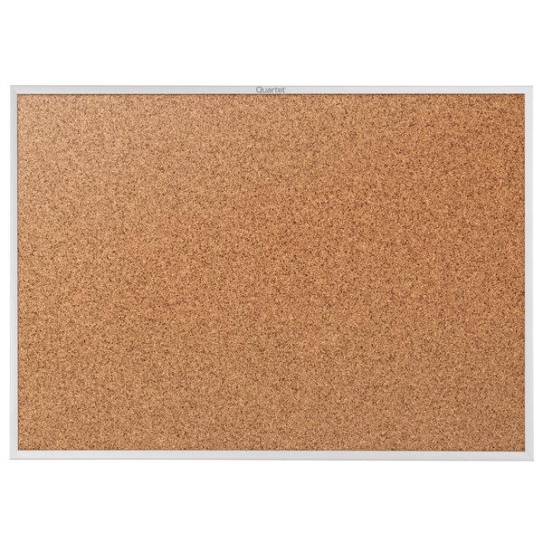 quartet 2303 classic 24 x 36 cork board with silver aluminum frame