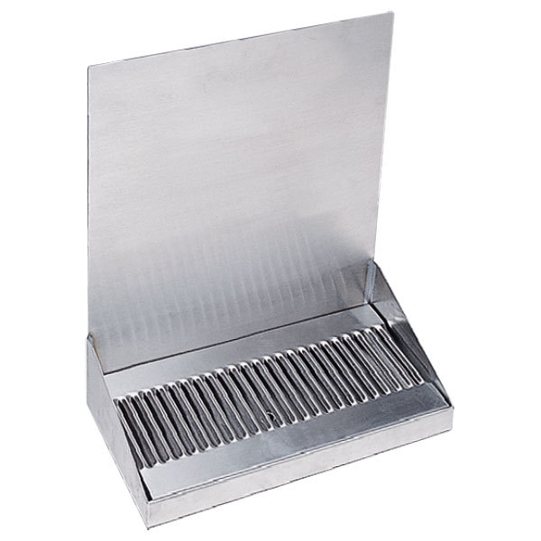 "Micro Matic DP-322D-0 12"" x 6 3/8"" x 14"" Stainless Steel Wall Mount Drip Tray"