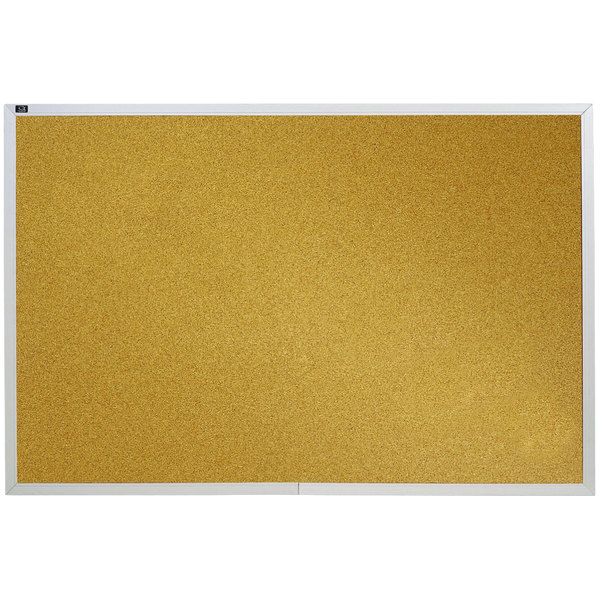 Quartet Ecka406 48 X 72 Cork Board With Silver Aluminum Frame