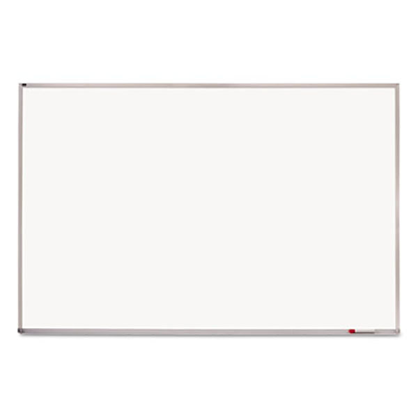 """Quartet PPA408 48"""" x 96"""" Magnetic Porcelain Whiteboard with Silver Aluminum Frame"""