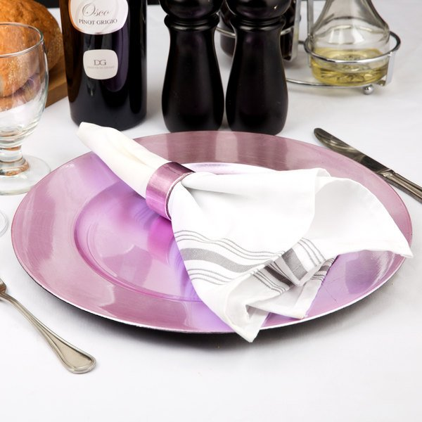 """Tabletop Classics by Walco TRPL-6651 13"""" Purple Round Plastic Charger Plate"""