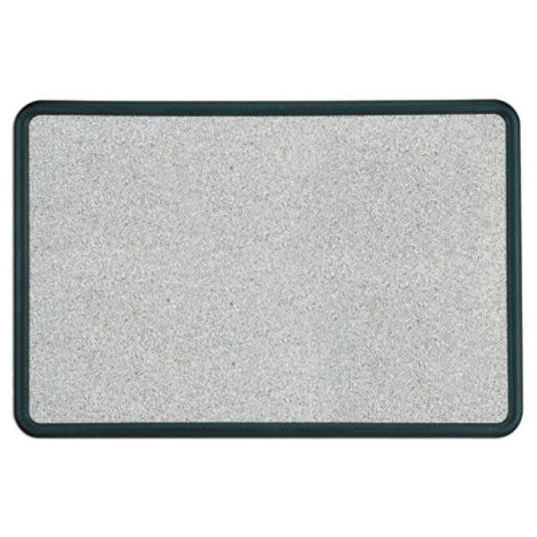 "Quartet 699370 Contour 24"" x 36"" Granite Gray Bulletin Board with Black Plastic Frame"