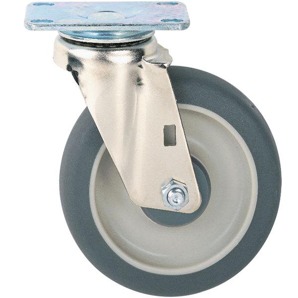 """Metro B5DN 5"""" Super Erecta Donut Neoprene Swivel Plate Caster"""