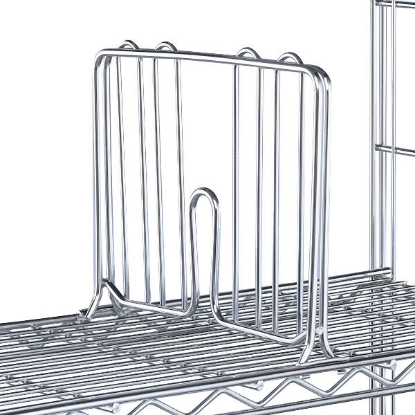 Dividers For Wire Shelving | Metro Dd12c 12 Chrome Wire Shelf Divider