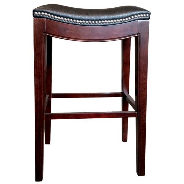 Holland Bar Stool 321025esblkvinyl Lynn Espresso Wood Counter Height With Black Vinyl Saddle Seat