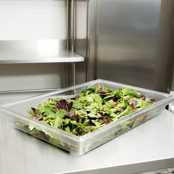 "Rubbermaid FG330600CLR Clear Polycarbonate Food Storage Box - 26"" x 18"" x 3 1/2"""
