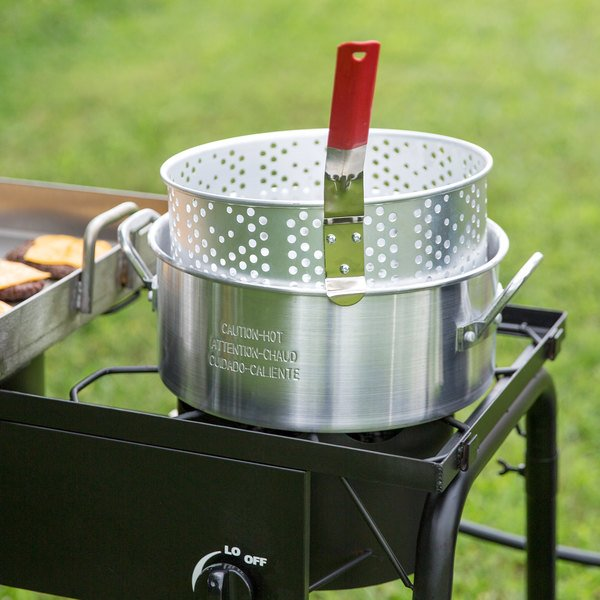 Backyard Pro 10 Qt. Aluminum Fry Pot / Steamer Pot with Basket Main Image 5