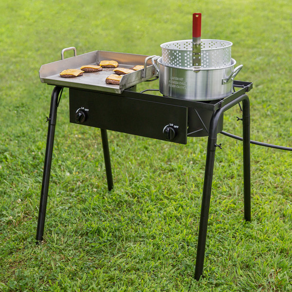 "Backyard Pro GKIT-HF 32"" Double Burner Outdoor Range with 15"" Griddle Plate - 150,000 BTU Main Image 4"