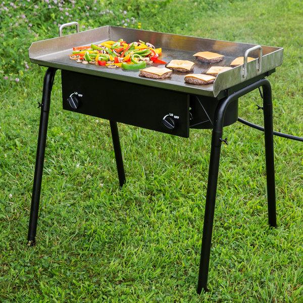 "Backyard Pro GKIT-FL 32"" Double Burner Outdoor Range with 30"" Griddle Plate - 150,000 BTU Main Image 3"