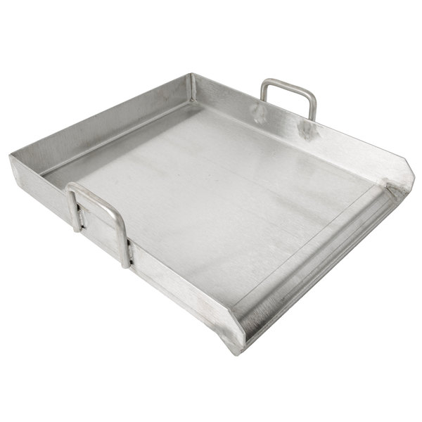 Backyard Pro 15 X 16 Stainless Steel Griddle Plate With 2 1 4 Splash Guard And Handles