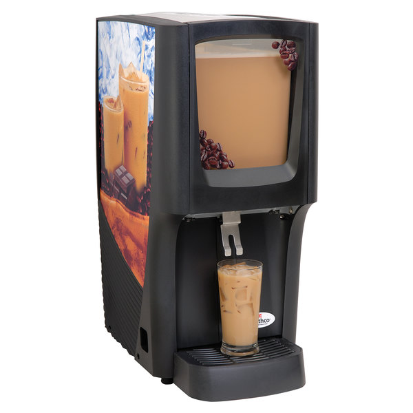 Crathco C-1S-16 G-Cool Single 5 Gallon Bowl Premix Cold Beverage Dispenser with Iced Coffee Decal Main Image 1