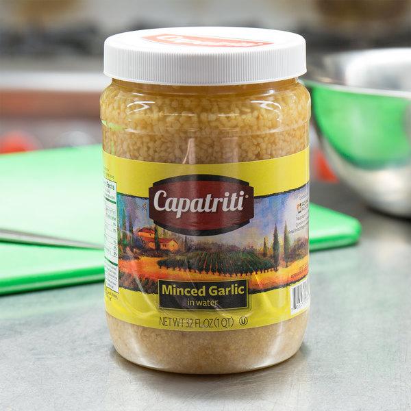 32 oz. Minced Garlic in Water - 6/Case