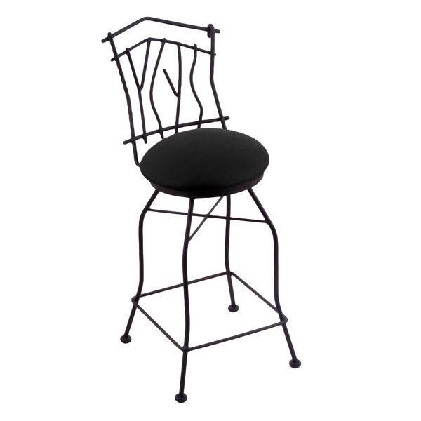 Wondrous Holland Bar Stool 301025Bwblkvinyl Black Wrinkle Steel Counter Height Swivel Stool With Back And Black Vinyl Seat Onthecornerstone Fun Painted Chair Ideas Images Onthecornerstoneorg