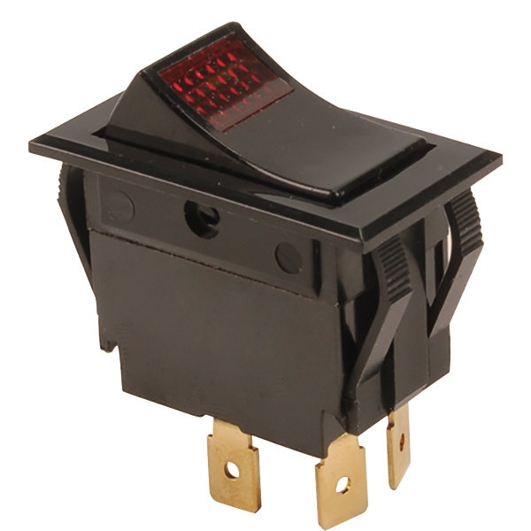 FMP 149-1076 Red Lighted Rocker Switch Main Image 1