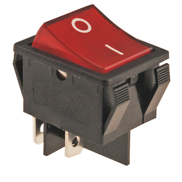 FMP 194-1029 Red Lighted Rocker Switch Main Image 1