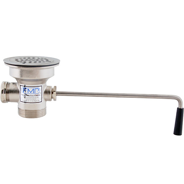 """Component Hardware D50-7100 Equivalent FMP 100-1031 Twist Waste Valve with 3 1/2"""" Sink Opening, 2"""" Drain Opening with 1 1/2"""" Reducer, Flat Strainer, and Overflow Port Main Image 1"""