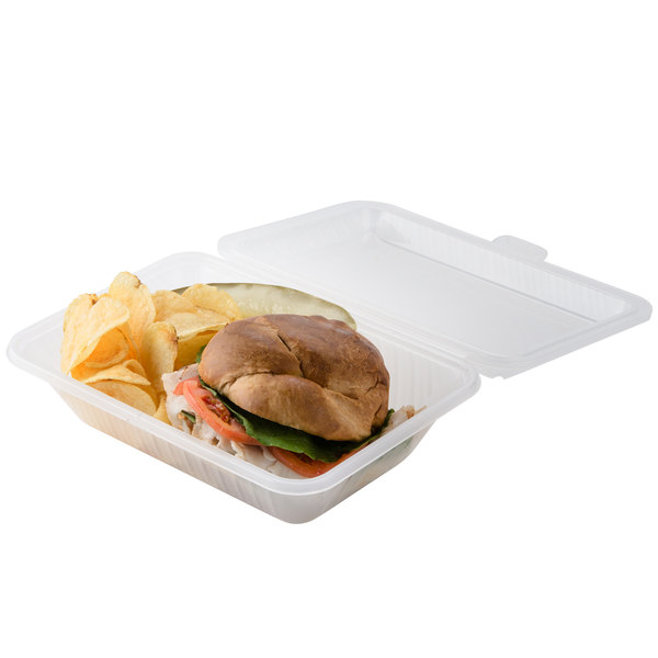"GET EC-11 9"" x 6 1/2"" x 2 1/2"" Clear Customizable Reusable Eco-Takeouts Container - 12/Case"