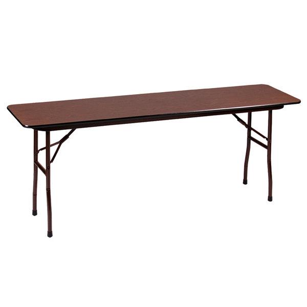 "Correll Folding Table, 18"" x 60"" Melamine Top, Walnut - CF1860M"