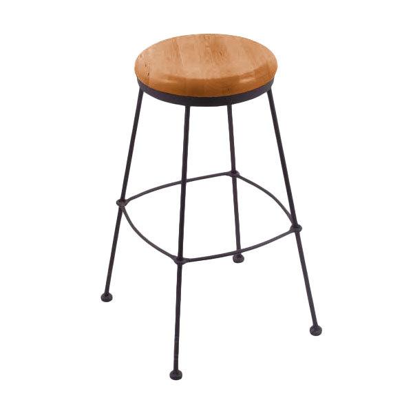 Prime Holland Bar Stool 303025Bwmedoak Black Wrinkle Steel Counter Height Stool With Medium Oak Wood Seat Creativecarmelina Interior Chair Design Creativecarmelinacom